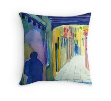 The Backstreets of Venice Throw Pillow