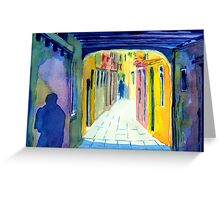 The Backstreets of Venice Greeting Card