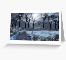 Winter beaver pond Greeting Card