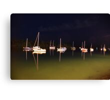 Moored under stary skies Canvas Print
