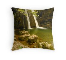 Janet's Foss, Malham, Malhamdale, Yorkshire Dales Throw Pillow