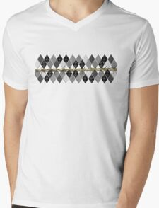 Argyle and Wire Skewers Mens V-Neck T-Shirt