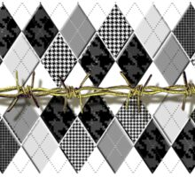 Argyle and Wire Skewers Sticker