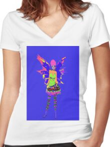 Fairy Punk Women's Fitted V-Neck T-Shirt