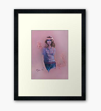 """Blue Eyes"" Oil on Canvas Framed Print"