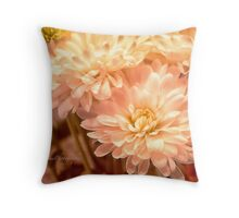 Pink Dahlias Throw Pillow