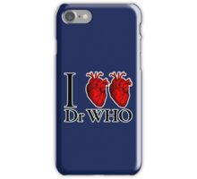 I Heart Heart Dr Who (v.2) iPhone Case/Skin