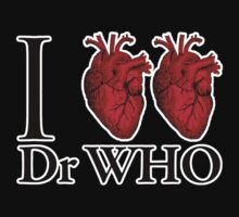 I Heart Heart Dr Who (v.2) One Piece - Short Sleeve