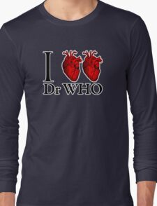 I Heart Heart Dr Who (v.2) Long Sleeve T-Shirt
