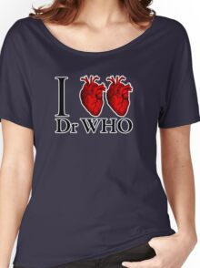 I Heart Heart Dr Who (v.2) Women's Relaxed Fit T-Shirt