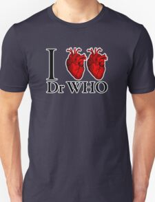 I Heart Heart Dr Who (v.2) Unisex T-Shirt