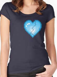 Mystery Skulls 'Ghost' - Broken Heart Women's Fitted Scoop T-Shirt