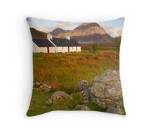 Blackrock Cottage, Glencoe, Argyll & Bute, Scotland Throw Pillow