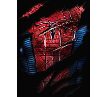 Spider Ripped Man Chest Photographic Print