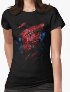 Spider Ripped Man Chest Womens Fitted T-Shirt