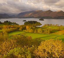 Derwent Water from Castlehead, Keswick, Lake District, by James Paul