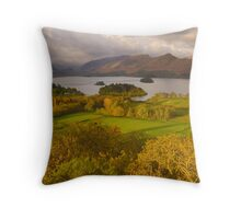 Derwent Water from Castlehead, Keswick, Lake District, Throw Pillow