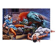 Classic Retro Street Fighter II SNES Photographic Print