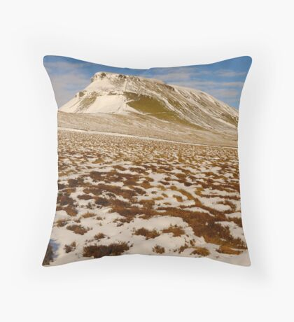 Pen-y-Ghent, Horton-in-Ribblesdale, Ribblesdale, Yorkshire Dales Throw Pillow