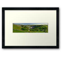 Malham Cove - Yorks Dales (Pano) Framed Print