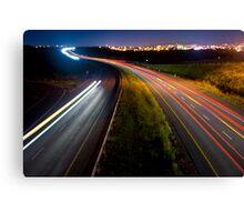 Highway Lightscape Canvas Print