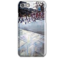 Stalemate, city scene painting iPhone Case/Skin