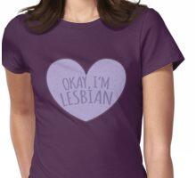 Okay I'm lesbian Womens Fitted T-Shirt
