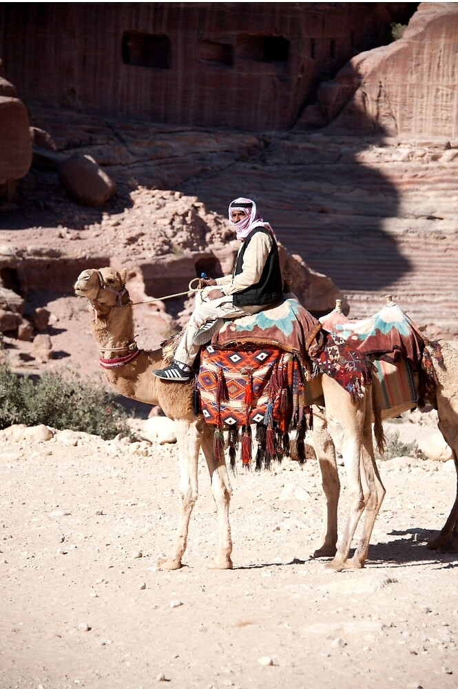 Bedouin and his camels by Mark Prior
