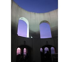 Inside Coit Tower at Dusk Photographic Print