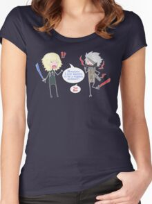 About Ninja Vampire Cyborgs.... Women's Fitted Scoop T-Shirt