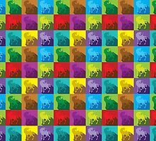 Uniquely quilty colourful Unicorn pattern by jazzydevil