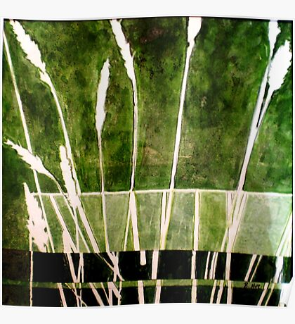 Green Monotype 1 - Printmaking Poster