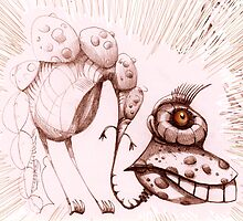 coffeeeyesaurus sketch by Tom Godfrey