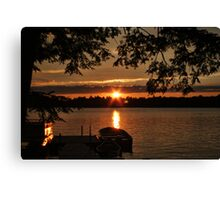 Sunset Over Crystal Lake Canvas Print