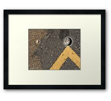 tipping the scales Framed Print