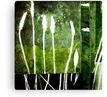Green Monotype 2 -Printmaking Canvas Print