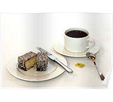 Morning tea & lamington Poster