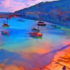 Mousehole Harbor, Cornwall - UK by John Rainford