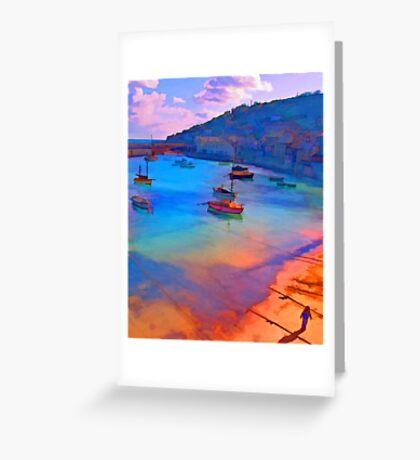 Mousehole Harbor, Cornwall - UK Greeting Card