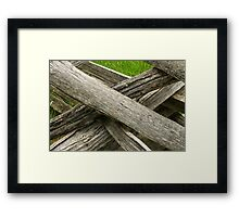 Rail fence closeup Framed Print