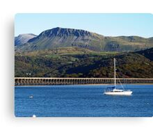 A view of Cader Idris from Barmouth, North Wales Canvas Print
