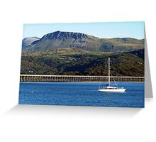 A view of Cader Idris from Barmouth, North Wales Greeting Card