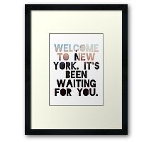 Welcome To New York- Taylor Swift Framed Print