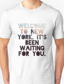 Welcome To New York- Taylor Swift Unisex T-Shirt