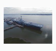 USS Yorktown from Drone One Piece - Short Sleeve
