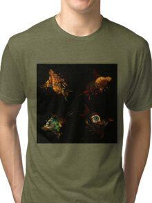 Dead bird pattern with beautiful photographs Tri-blend T-Shirt