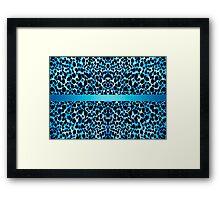 Leopard Lovers Elegant Blue Animal Print Framed Print
