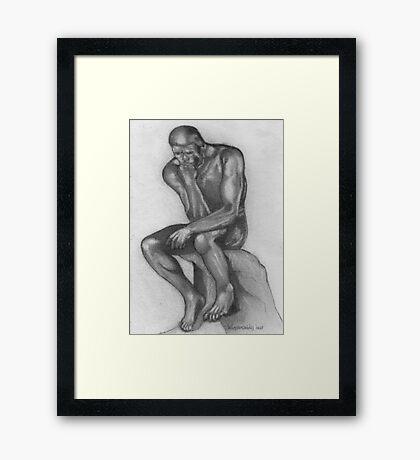 Rodin's Thinker  Framed Print