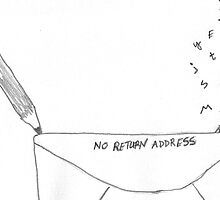 No Return Address (Drawing Day doodle) by rubyjo