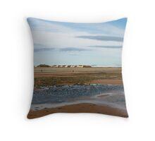 Houses on the beach Throw Pillow